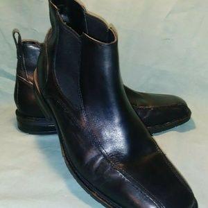 Nunn Bush Beetle Black Slip Pull On Ankle Boot